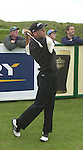 IRISH OPEN BALLYBUNION WEDNESDAY...1999 winner Sergio Garcia drives at the 10th hole in the Murphys Irish Open Pro-Am at Ballybunion on Wednesday..Picture by Don MacMonagle