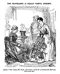 "The Chatelaine; a Really Useful Present. Laura. ""Oh! Look, Ma' dear; see what a love of a chatelain Edward has given me."""