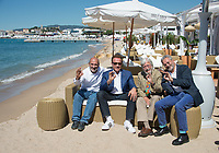 Arnold Schwarzenegger, Jean-Michel Cousteau, Jean-Jacques Mantello &amp; Francois Mantello at the photocall for &quot;Wonders of the Sea 3D&quot; on the beach at the 70th Festival de Cannes, Cannes, France. 20 May 2017<br /> Picture: Paul Smith/Featureflash/SilverHub 0208 004 5359 sales@silverhubmedia.com