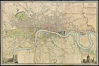 Early map of 19th century London.