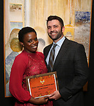 Antoinette Nwandu and boyfriend attends The Vineyard Theatre's Emerging Artists Luncheon at The National Arts Club on November 9, 2017 in New York City.