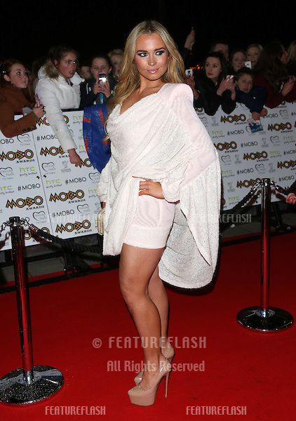 Amanda Harrington arriving for The MOBO awards 2012 held at the Echo Arena, Liverpool. 03/11/2012 Picture by: Henry Harris / Featureflash
