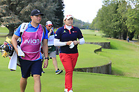 Ariya Jutanugarn (THA) walks onto the 7th tee during Friday's Round 2 of The Evian Championship 2018, held at the Evian Resort Golf Club, Evian-les-Bains, France. 14th September 2018.<br /> Picture: Eoin Clarke | Golffile<br /> <br /> <br /> All photos usage must carry mandatory copyright credit (&copy; Golffile | Eoin Clarke)