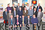RETIREMENT: Noel Conway, St John's Park, Tralee who retired from CIE after 24 years celebrating with family and friends at the Ballyroe Heights hotel, Tralee on Saturday seated l-r: Dan Kelliher, Michael Griffin, Noel Conway, Timmy Murphy, Dermot Ryall. Centre l-r: John Murphy, Tony Foley, Maurice O'Brien, John O'Dowd, Gerard Nolan, D J Curtin, John Griffin and  J J Breen. Back l-r: Michael Griffin, Frank Danlan, Kieran Moynihan, McCarthy, Michael Tyther, Sean O'Connor and Tim Collins.