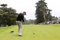 Nick Watney (USA) on the 9th tee during Wednesday's Practice Day of the 112th US Open Championship at The Olympic Club, San Francisco,  California, 13th June 2012 (Photo Eoin Clarke/www.golffile.ie)