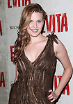 Maggie Grace.attending the Broadway Opening Night Performance of 'EVITA' at the Marquis Theatre in New York City on 4/5/2012 © Walter McBride / WM Photography