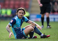 Sam Saunders of Wycombe Wanderers during the Sky Bet League 2 match between Leyton Orient and Wycombe Wanderers at the Matchroom Stadium, London, England on 1 April 2017. Photo by Andy Rowland.