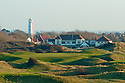 17th Green & Clubhouse/Championship Course/Burnham & Berrow Golf Club, Burnham-on-Sea, Somerset, England. .Photo Credit/Phil Inglis.....