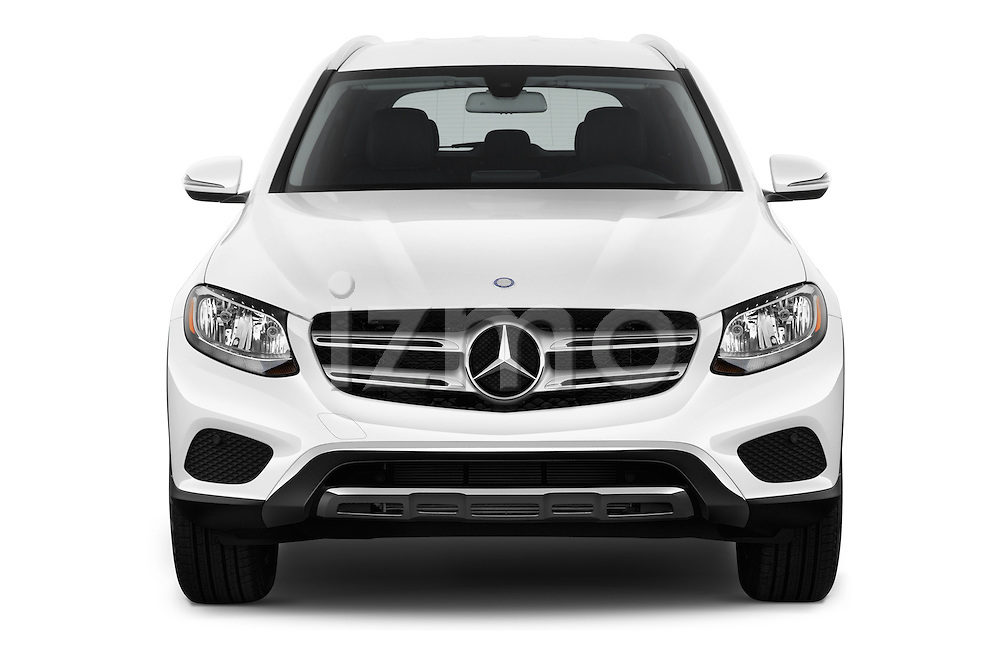 Car photography straight front view of a 2018 Mercedes Benz GLC-Class GLC300 5 Door SUV Front View
