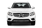 Car photography straight front view of a 2016 Mercedes Benz GLC-Class GLC300 5 Door SUV Front View