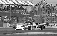The #98 Toyota 88C of Juan Fangio II and Drake Olsen races through a turn during the IMSA GTP/Lights race at the Florida State Fairgrounds on the way to a 9th place finish in Tampa, FL, October 1, 1989. (Photo by Brian Cleary/www.bcpix.com)