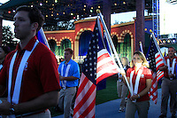 The closing ceremony of the 39th Ryder Cup at Medinah Country Club, Chicago, Illinois  (Photo Colum Watts/www.golffile.ie)
