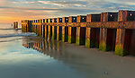 Cape Hatteras National Seashore, North Carolina<br /> Morning light on a rusting retaining wall
