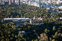 Castillo de Chapultepec,  Chapultepec Castle. Aerial photos of Mexico City, Mexico
