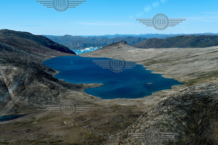A lake at the site of the proposed mine that is being suggested as a repository for radioactive Uranium tailings that will be a by-product of the mining process....