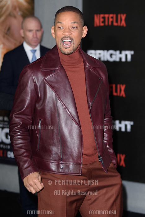 Will Smith at the European premiere for &quot;Bright&quot; European premiere at the BFI South Bank, London, UK. <br /> 15 December  2017<br /> Picture: Steve Vas/Featureflash/SilverHub 0208 004 5359 sales@silverhubmedia.com