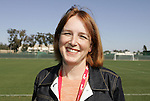 28 March 2009: WPS Commissioner Tonya Antonucci. The Washington Freedom practiced on Field 2 at the Home Depot Center in Carson, California the day before playing in the Women's Professional Soccer inaugural game.