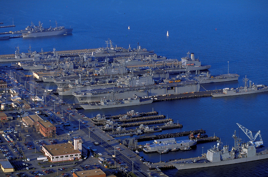 The Norfolk Naval Base, Headquarters of the Atlantic Fleet at Norfolk, Virginia. Norfolk Virginia USA Hampton Roads.