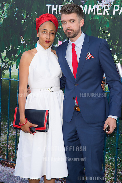 Writer Zadie Smith at The Serpentine Gallery Summer Party 2015 at The Serpentine Gallery, London.<br /> July 2, 2015  London, UK<br /> Picture: Steve Vas / Featureflash