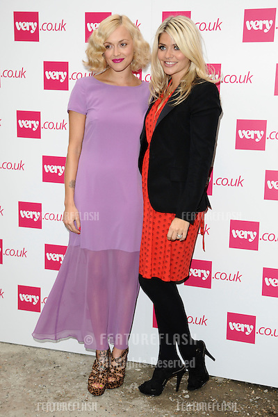 presenters, Fearne Cotton and Holly Willoughby.arrives at the Fearne Cotton's Spring Summer 2012 range show for Very.co.uk, London.19/09/2011  Picture by Steve Vas/Featureflash