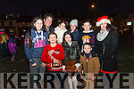 Front l-r Luke, Niamh and Brendan Moriarty, back l-r Nicole, Ciaran, Emily, Catherineand Barry Moriarty and Una Flynn all from Killorglin pictured at turning of the Christmas lights in Killorglin last Saturday.