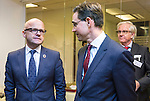 BRUSSELS - BELGIUM - 28 November 2016 -- Inauguration of the Nordic Energy Office. -- Vidar Helgesen, Minister for Climate of Norway with Jyrki Katainen, Vice-president of the European Commission, responsible for Jobs, Growth, Investment and Competitiveness.--  -- PHOTO: Juha ROININEN / EUP-IMAGES