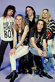 NEW YORK CITY NY - NOVEMBER 06 :  Jeff Ament, Bruce Fairweather, Greg Gilmore, Stone Gossard and<br /> Andrew Wood of Mother Love Bone pose during a photo session at The Cat Club on November  6, 1989 in New York City. Credit Larry Marano (C) 1989
