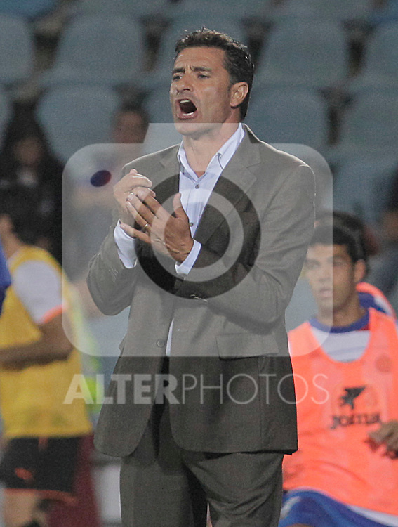 Getafe's coach Michel Gonzalez during UEFA Europa League match. August 19, 2010. (ALTERPHOTOS/Acero)
