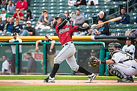 Ronny Cedeno (5) of the Sacramento River Cats during the game against the Salt Lake Bees in Pacific Coast League action at Smith's Ballpark on April 17, 2015 in Salt Lake City, Utah.  (Stephen Smith/Four Seam Images)