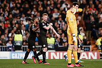 26th February 2020; Estadio Santiago Bernabeu, Madrid, Spain; UEFA Champions League Football, Real Madrid versus Manchester City; Kevin De Bruyne (Manchester City)  celebrates his penalty shot goal which made it  1-2 in the 83rd minute