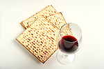 Jewish passover matzoh and wine