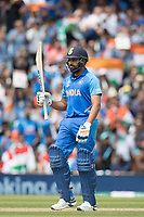 Rohit Sharma (India) acknowledges his half century during India vs Australia, ICC World Cup Cricket at The Oval on 9th June 2019