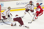 Parker Milner (BC - 35), Michael Matheson (BC - 5), Sahir Gill (BU - 28) - The Boston College Eagles defeated the visiting Boston University Terriers 5-2 on Saturday, December 1, 2012, at Kelley Rink in Conte Forum in Chestnut Hill, Massachusetts.