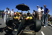 Ayrton Senna at the  1986  Labatt Formula One Grand-Prix  in Montreal.<br /> <br /> Ayrton Senna da Silva was a Brazilian racing driver who won three Formula One world championships. He was killed in an accident while leading the 1994 San Marino Grand Prix<br /> <br /> Photo : Denis Alix - Agence Quebec Presse