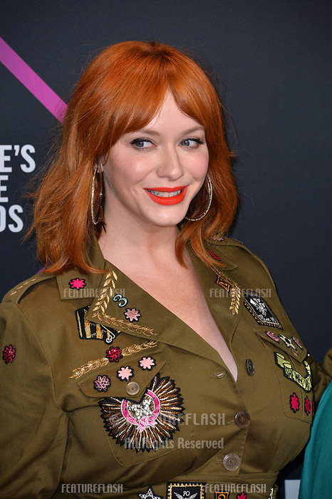LOS ANGELES, CA. November 11, 2018: Christina Hendricks at the E! People's Choice Awards 2018 at Barker Hangar, Santa Monica Airport.<br /> Picture: Paul Smith/Featureflash