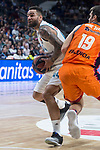 Real Madrid Jeffery Taylor and Valencia Basket Fernando San Emeterio during Turkish Airlines Euroleague match between Real Madrid and Valencia Basket at Wizink Center in Madrid, Spain. December 19, 2017. (ALTERPHOTOS/Borja B.Hojas)