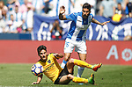 CD Leganes' Diego Rico (r) and Malaga CF's Juankar Perez during La Liga match. February 25,2017. (ALTERPHOTOS/Acero)