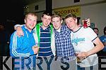 Victory Celebrations : Enjoying the Kerry Hurling Teams win at Lowes Bar in Ballyduff on Saturday night last were Allan Bonn, Shane Nolan, Mike Burket & Richard Nolan