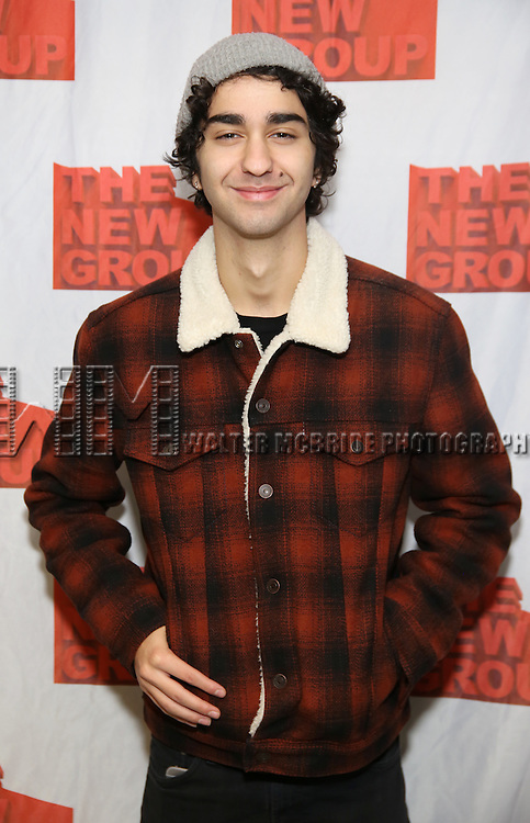 """Alex Wolff attends the New Group's """"All the Fine Boys"""" rehearsal photocall at their rehearsal studio on February 3, 2017 in New York City."""