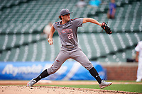 Alex Scherff (23) of Prestonwood Christian High School in Colleyville, Texas during the Under Armour All-American Game presented by Baseball Factory on July 23, 2016 at Wrigley Field in Chicago, Illinois.  (Mike Janes/Four Seam Images)