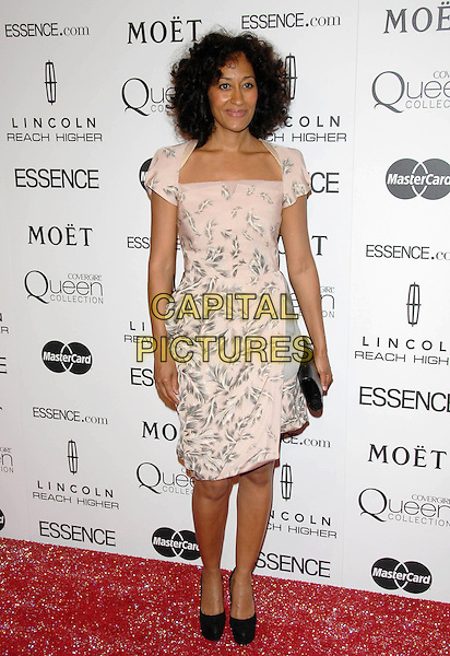 TRACEE ELLIS ROSS.The Third Annual ESSENCE Black Women In Hollywood Luncheon held at The Beverly Hills Hotel in Beverly Hills, California, USA..March 4th, 2010                                                                    .full length pink grey gray pattern dress black shoes clutch bag.CAP/RKE/DVS.©DVS/RockinExposures/Capital Pictures.