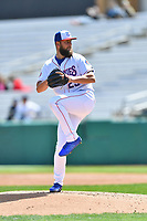 Tennessee Smokies starting pitcher Trevor Clifton (29) delivers a pitch during a game against the Jackson Generals at Smokies Stadium on April 11, 2018 in Kodak, Tennessee. The Generals defeated the Smokies 6-4. (Tony Farlow/Four Seam Images)