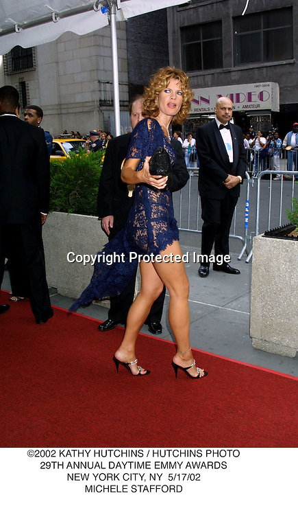 ©2002 KATHY HUTCHINS / HUTCHINS PHOTO.29TH ANNUAL DAYTIME EMMY AWARDS.NEW YORK CITY, NY  5/17/02.MICHELE STAFFORD