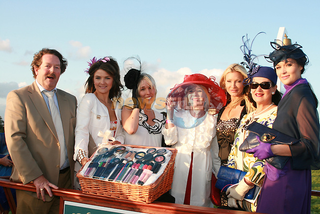 Kieran, Emma Jane and Linda Flynn (Gosh Cosmetics), Aine Purcell (3rd Best Dressed Lady), Caprice, Faith (2nd Best Dressed Lady) and Keelin Taylor (Best Dressed) at the Bellewstown Races...Photo NEWSFILE/Jenny Matthews.(Photo credit should read Jenny Matthews/NEWSFILE)....This Picture has been sent you under the condtions enclosed by:.Newsfile Ltd..The Studio,.Millmount Abbey,.Drogheda,.Co Meath..Ireland..Tel: +353(0)41-9871240.Fax: +353(0)41-9871260.GSM: +353(0)86-2500958.email: pictures@newsfile.ie.www.newsfile.ie.FTP: 193.120.102.198.
