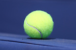 DURHAM, NC - APRIL 14: Tennis ball. The Duke University Blue Devils hosted the University of Notre Dame Fighting Irish on April 14, 2017, at Ambler Tennis Stadium in Durham, NC in a Division I College Men's Tennis match. Duke won the match 4-3.