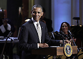 United States President Barack Obama delivers remarks at a concert honoring singer-songwriter Carole King at the White House in Washington, DC on May 22, 2013. Carole King is awarded the 2013 Library of Congress Gershwin Prize for Popular Song..Credit: Yuri Gripas / Pool via CNP