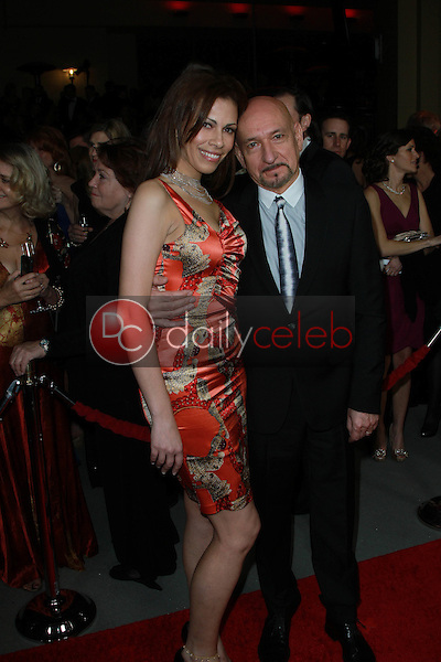 Daniela Lavender and Sir Ben Kingsley<br /> at the 64th Annual Directors Guild Of America Awards, Hollywood & Highland, Hollywood, CA 01-28-12<br /> David Edwards/DailyCeleb.com 818-249-4998