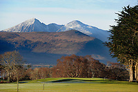 The 16th hole on the Killeen Course at Killarney Golf Club with Carrauntoohill Mountain in the background.<br /> Picture by Don MacMonagle