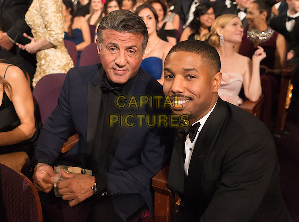 Sylvester Stallone and Michael B. Jordan at The 88th Oscars&reg; at the Dolby&reg; Theatre in Hollywood, CA on Sunday, February 28, 2016.<br /> *Editorial Use Only*<br /> CAP/PLF<br /> Supplied by Capital Pictures