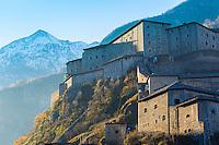 Italie, Val d'Aoste, fort de Bard, Museo delle Alpi (musée des Alpes) vu du côté ouest // Italy, Aosta Valley, Bard Fort, Museo delle Alpi (Alps Museum) seen from the western side